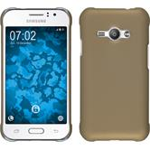 Hardcase for Samsung Galaxy J1 Ace rubberized gold