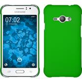 Hardcase for Samsung Galaxy J1 Ace rubberized green