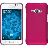 Hardcase for Samsung Galaxy J1 Ace rubberized hot pink