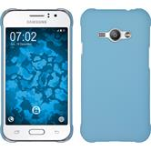 Hardcase for Samsung Galaxy J1 Ace rubberized light blue