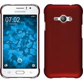 Hardcase for Samsung Galaxy J1 Ace rubberized red
