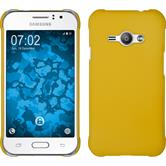Hardcase for Samsung Galaxy J1 Ace rubberized yellow