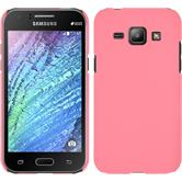 Hardcase for Samsung Galaxy J1 rubberized pink