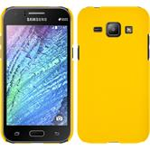 Hardcase for Samsung Galaxy J1 rubberized yellow