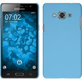 Hardcase for Samsung Galaxy J3 Pro rubberized light blue