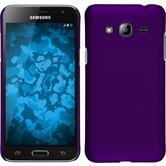 Hardcase for Samsung Galaxy J3 rubberized purple