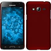 Hardcase for Samsung Galaxy J3 rubberized red