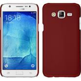 Hardcase for Samsung Galaxy J7 rubberized red
