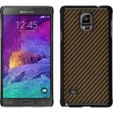 Hardcase for Samsung Galaxy Note 4 carbon optics bronze