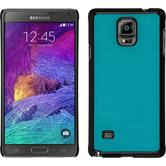 Hardcase for Samsung Galaxy Note 4 leather optics turquoise