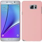 Hardcase for Samsung Galaxy Note 5 rubberized pink