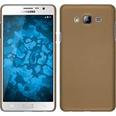 Hardcase for Samsung Galaxy On7 rubberized gold