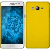 Hardcase for Samsung Galaxy On7 rubberized yellow