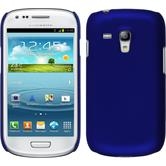 Hardcase for Samsung Galaxy S3 Mini rubberized blue