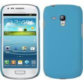 Hardcase for Samsung Galaxy S3 Mini rubberized light blue