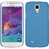 Hardcase for Samsung Galaxy S4 Mini Plus rubberized light blue