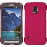Hardcase for Samsung Galaxy S5 Active rubberized hot pink