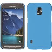 Hardcase for Samsung Galaxy S5 Active rubberized light blue