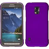 Hardcase for Samsung Galaxy S5 Active rubberized purple