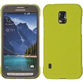Hardcase for Samsung Galaxy S5 Active rubberized yellow