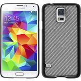 Hardcase for Samsung Galaxy S5 Neo carbon optics silver