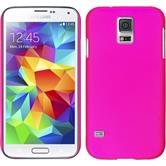 Hardcase for Samsung Galaxy S5 rubberized hot pink