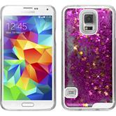 Hardcase for Samsung Galaxy S5 Stardust hot pink