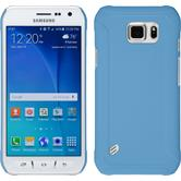 Hardcase for Samsung Galaxy S6 Active rubberized light blue