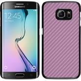 Hardcase for Samsung Galaxy S6 Edge carbon optics hot pink