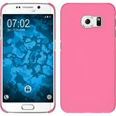 Hardcase for Samsung Galaxy S6 Edge rubberized pink