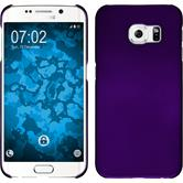 Hardcase for Samsung Galaxy S6 Edge rubberized purple