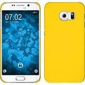 Hardcase for Samsung Galaxy S6 Edge rubberized yellow