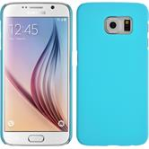 Hardcase for Samsung Galaxy S6 rubberized light blue