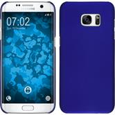 Hardcase for Samsung Galaxy S7 Edge rubberized blue