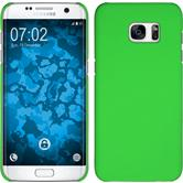 Hardcase for Samsung Galaxy S7 Edge rubberized green