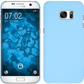 Hardcase for Samsung Galaxy S7 Edge rubberized light blue