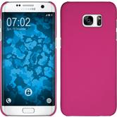 Hardcase for Samsung Galaxy S7 Edge rubberized pink