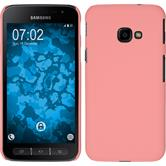 Hardcase Galaxy Xcover 4 rubberized pink