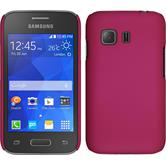Hardcase for Samsung Galaxy Young 2 rubberized hot pink