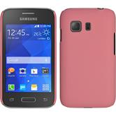 Hardcase for Samsung Galaxy Young 2 rubberized pink