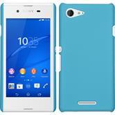 Hardcase for Sony Xperia E3 rubberized light blue