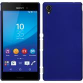 Hardcase for Sony Xperia M4 Aqua rubberized blue