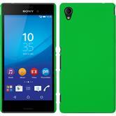 Hardcase for Sony Xperia M4 Aqua rubberized green