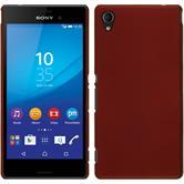Hardcase for Sony Xperia M4 Aqua rubberized red