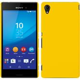 Hardcase for Sony Xperia M4 Aqua rubberized yellow
