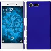 Hardcase for Sony Xperia X Compact rubberized blue