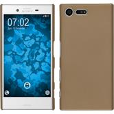 Hardcase for Sony Xperia X Compact rubberized gold