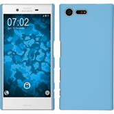 Hardcase for Sony Xperia X Compact rubberized light blue