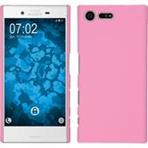 Hardcase for Sony Xperia X Compact rubberized pink