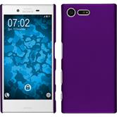 Hardcase for Sony Xperia X Compact rubberized purple